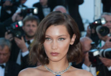 "Bella Hadid Debuts a Platinum Necklace at the ""Opening Ceremony of the Cannes Film Festival"""