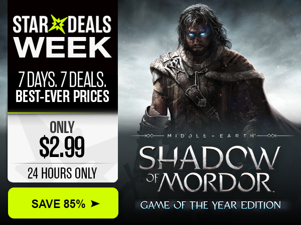 85% off Middle-earth: Shadow of Mordor GOTY in Star Deals Week