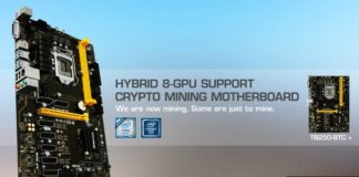 BIOSTAR Introduces the World's First 8-Slot PCI-e Mining Motherboard with the TB250-BTC+