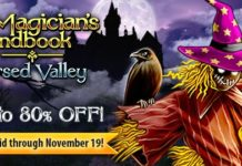 G5 Games Weekly Sale! Grab The Magician's Handbook: Cursed Valley at up to an 80% discount on ALL platforms!