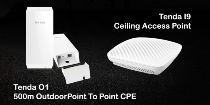Tenda launches Budget friendly CPE & Ceiling Access Point - O1 & I9